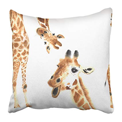 Realistic animal clipart picture royalty free download Amazon.com: Emvency Decorative Throw Pillow Covers Cases ... picture royalty free download