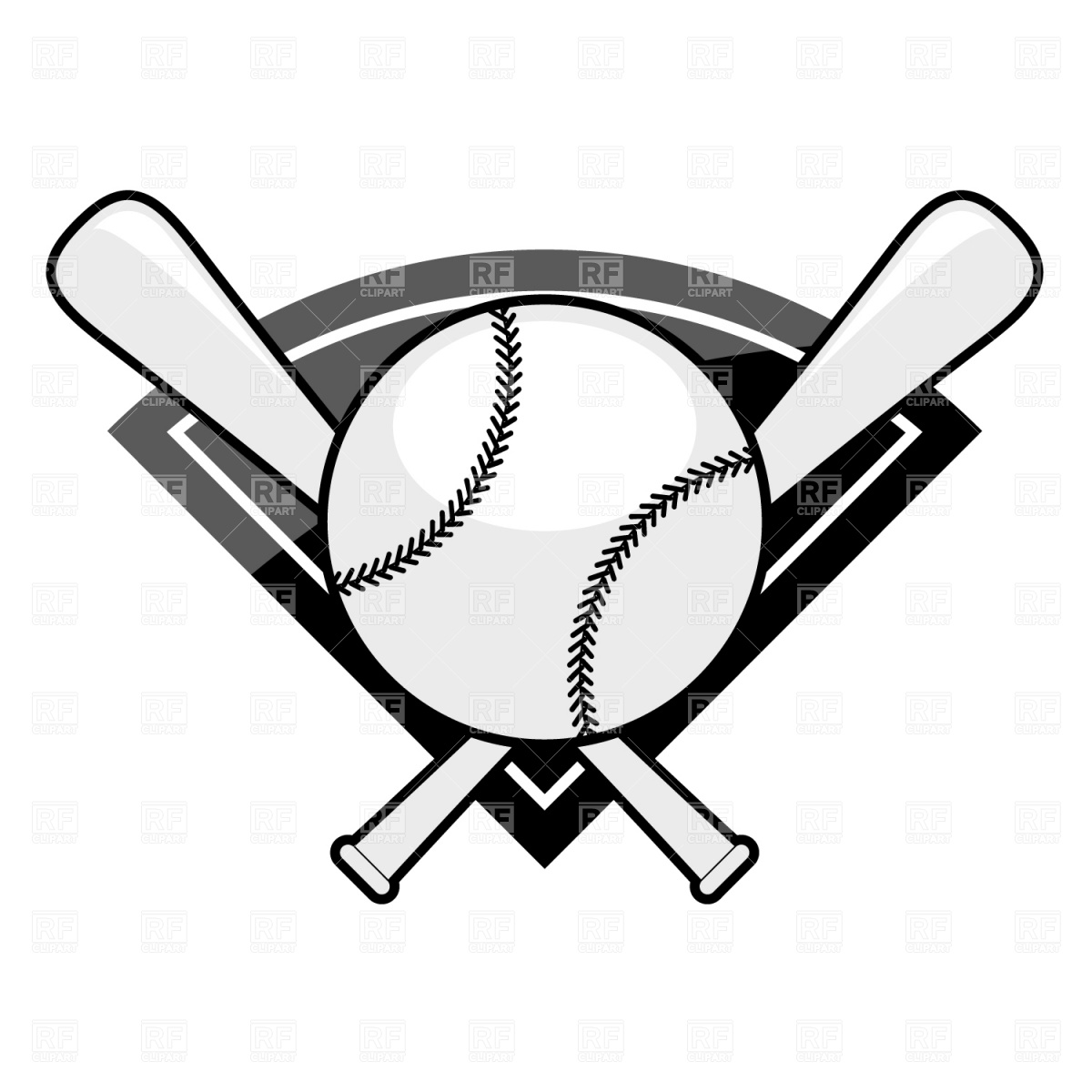 Bat black and white crossed baseball bats clipart black and ... banner black and white