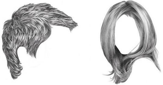 How to Draw Realistic Hair: Easiest Way! | RapidFireArt clip art stock