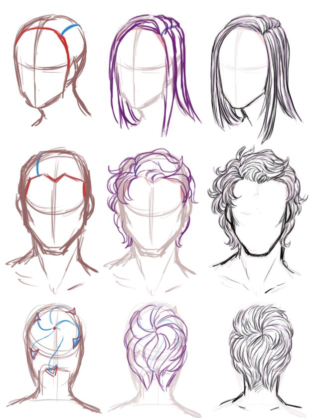 """Realistic male hair clipart jpg library download bluejamjarart: """" someone asked me to do a hair and face ... jpg library download"""