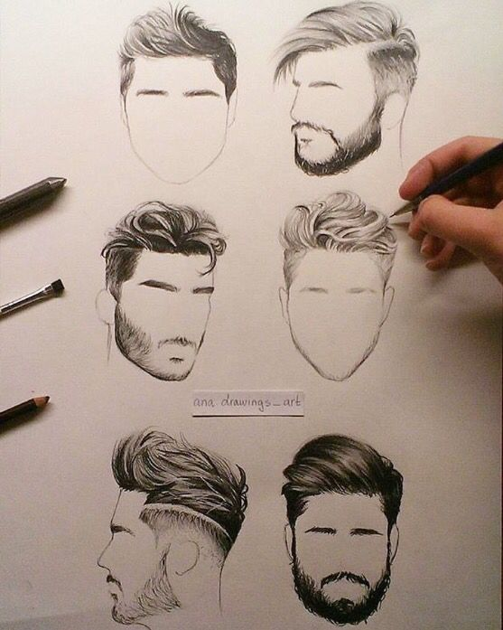 Realistic male hair clipart picture black and white Men Hair Sketch at PaintingValley.com | Explore collection ... picture black and white
