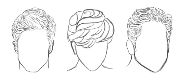 How to Paint Realistic Hair in Adobe Photoshop: Short Hair ... transparent library