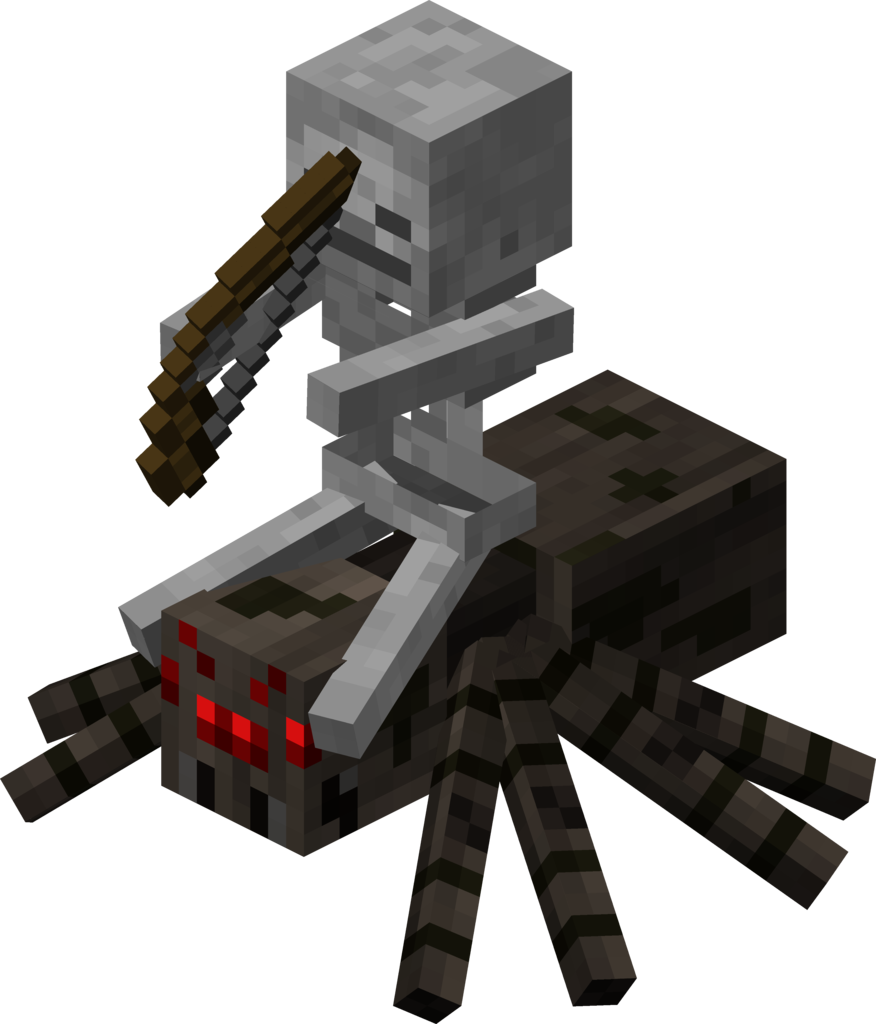 Realistic minecraft pumpkin clipart png royalty free minecraft skeleton jockey | skeleton&spider | Pinterest | Spider ... png royalty free