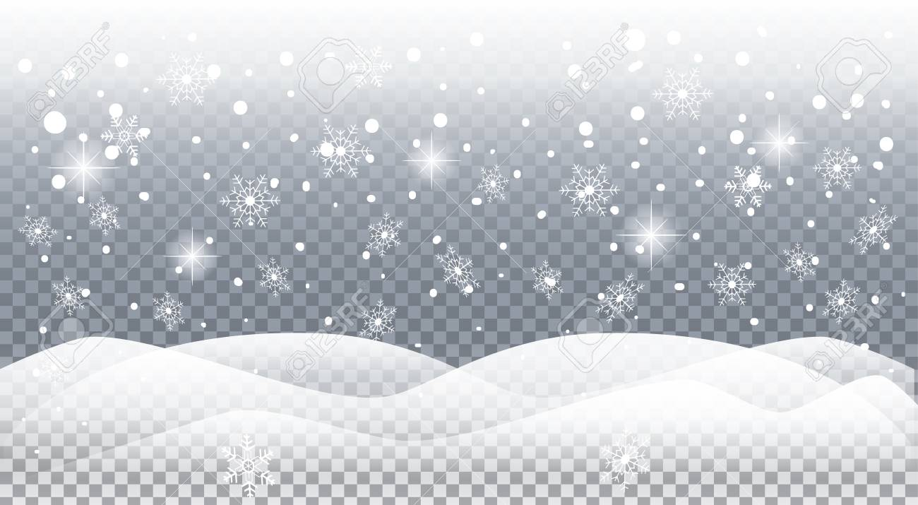 Realistic snow clipart vector royalty free stock Realistic Snow Cliparts - Making-The-Web.com vector royalty free stock