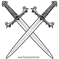 Crossed Swords Clip Art | Tattoo | Sword tattoo, Sword ... royalty free stock