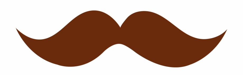 Moustache Clipart Hipster - Brown Mustache Clipart Free PNG ... image library download