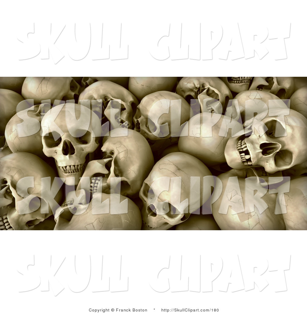 Reamins clipart banner free Clip Art of a Background of Human Skull Remains with Teeth ... banner free