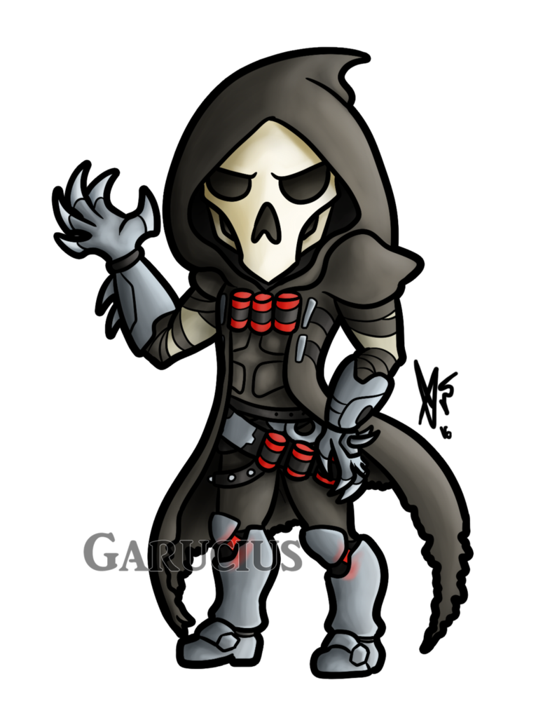 Reaper overwatch clipart clip art free stock Overwatch Chibi's: Reaper by Garucius on DeviantArt clip art free stock