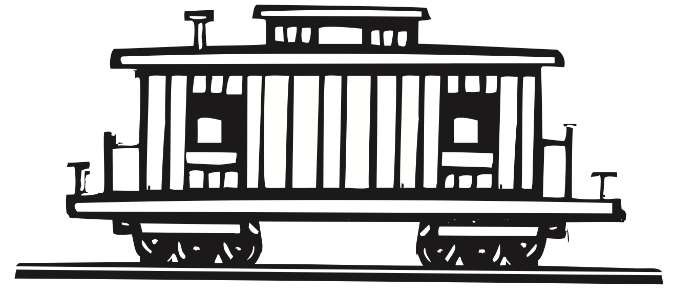 Rear of caboose clipart black and white banner freeuse download Caboose Clipart | Free download best Caboose Clipart on ... banner freeuse download