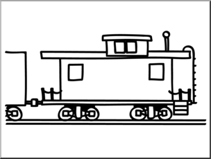 Rear of caboose clipart black and white clipart freeuse download Collection of Caboose clipart | Free download best Caboose ... clipart freeuse download