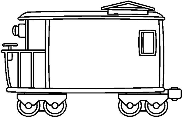 Line caboose child clipart black and white png library Collection of Caboose clipart | Free download best Caboose ... png library