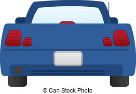 Rear of car with tail lights clipart vector library library Clipart Vector Rear Of Car Tail Lights & Free Clip Art ... vector library library