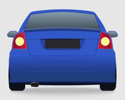 Rear of car with tail lights clipart image Rear PNG - DLPNG.com image