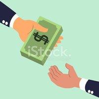 Recibir clipart vector transparent download Hand Giving and Receiving Money stock vectors - Clipart.me vector transparent download