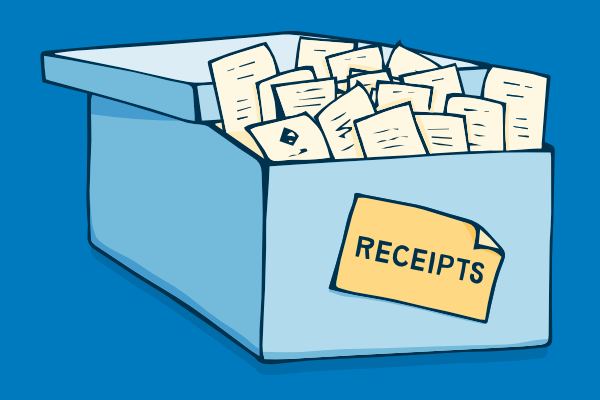 Reciepts clipart vector transparent Will HMRC accept scanned receipts for business expenses ... vector transparent