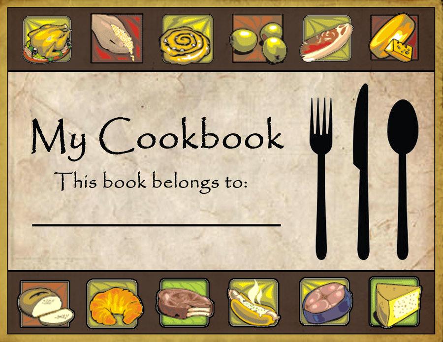 Recipe book cover clipart clipart freeuse stock Cookbook Cover Clipart - Clipart Kid clipart freeuse stock
