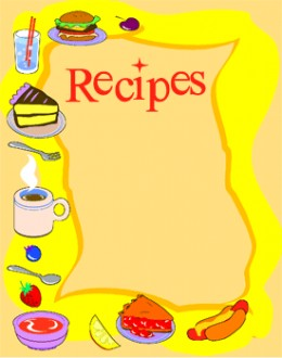 Recipe book cover clipart picture library download Cookbook Cover Clipart - Clipart Kid picture library download