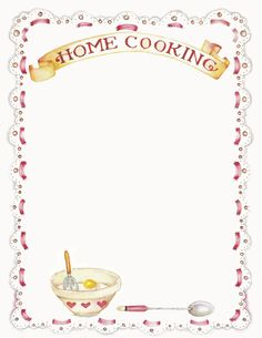 Recipe border clipart banner download 87 Best Recipe borders images in 2019 | Borders for paper ... banner download