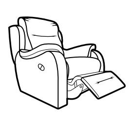 Recliner chair vector clipart black and white clipart free download Recliner Drawing at PaintingValley.com | Explore collection ... clipart free download