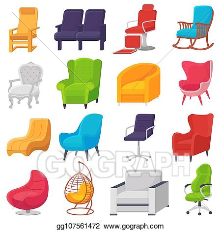 Recliner chair vector clipart black and white clip art free download Vector Art - Chair vector comfortable furniture armchair and ... clip art free download