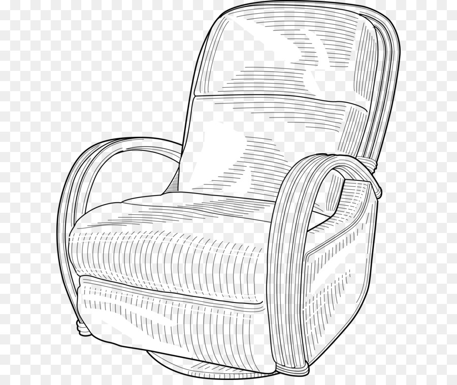 Recliner chair vector clipart black and white picture freeuse download Couch Cartoon png download - 678*750 - Free Transparent ... picture freeuse download