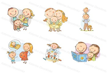 Recolor the skin tone in clipart image clip art transparent download Happy doodle families bundle, clipart family clip art transparent download