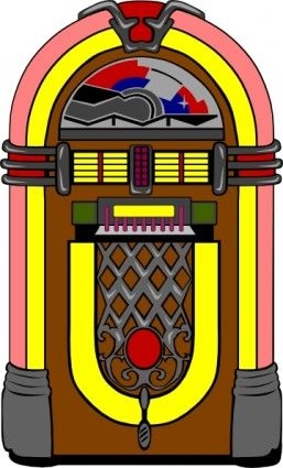 Record player and juke box clipart 50 s image transparent library Fifties Jukebox clip art | things for cards | Fifties party ... image transparent library