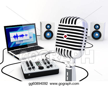 Clipart - Home recording studio equipment. Stock ... free library