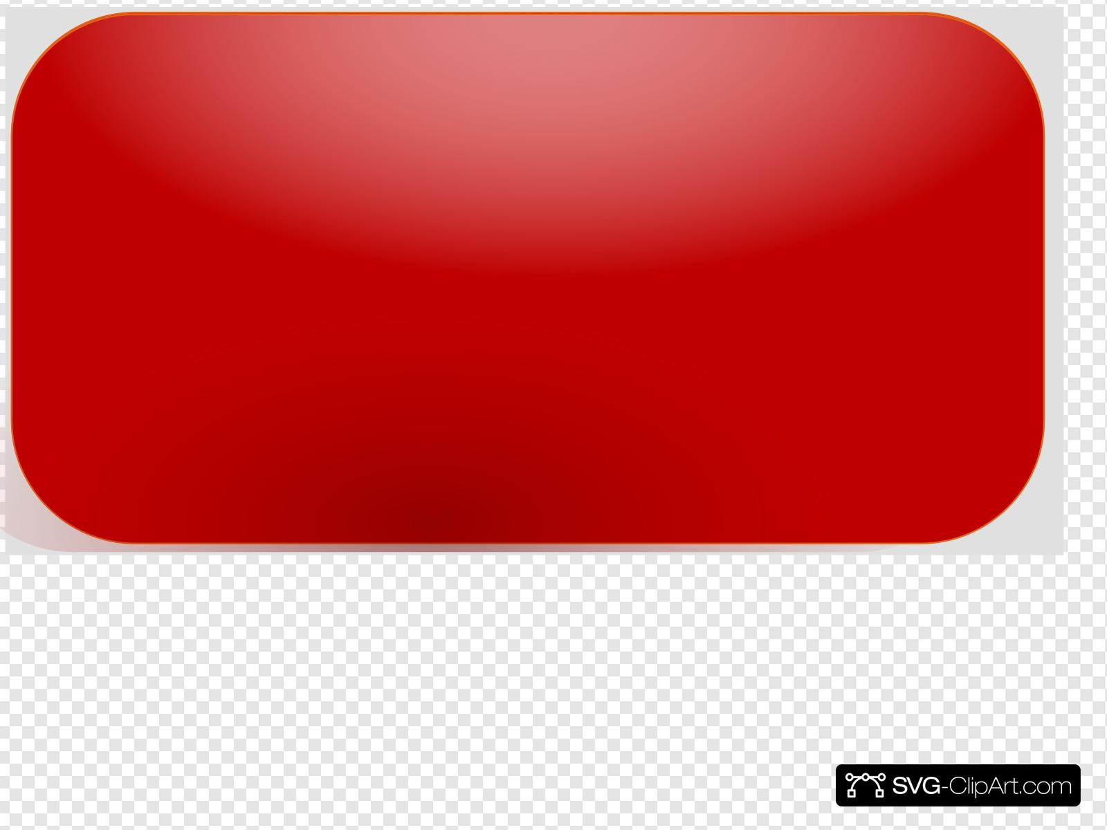 Red Rectangle Button Clip art, Icon and SVG - SVG Clipart graphic royalty free stock