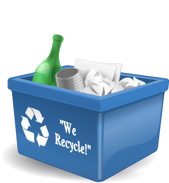 Recyclables clipart svg royalty free stock Recycling Box 3d Clip Art at Clker.com - vector clip art ... svg royalty free stock