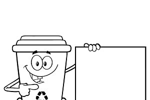 Recycle bin clipart black and white image freeuse Recycling Clipart Black And White & Free Clip Art Images ... image freeuse