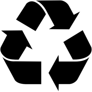 Recycle clipart black and white free stock Black Recycle Symbol Clip Art at Clker.com - vector clip art ... free stock