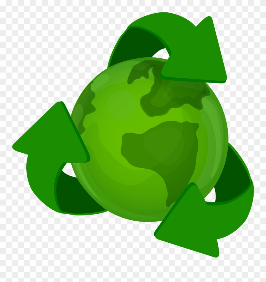 Recycle earth clipart svg library stock Green Earth Planet With Recycle Symbol Png Clip Art ... svg library stock