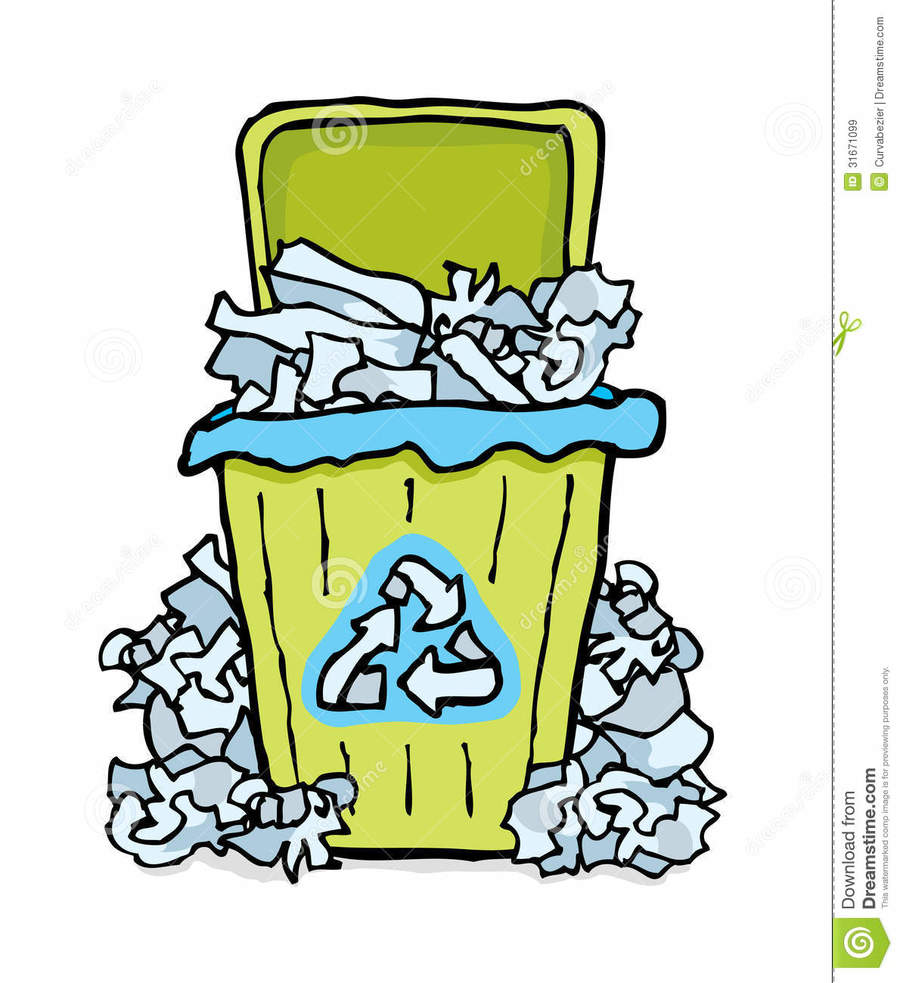 Recycle paper clipart