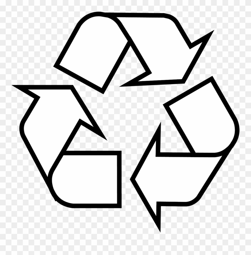 Recycle symbol clipart black and white clip art freeuse download Recycling Symbol Clipart (#1543819) - PinClipart clip art freeuse download