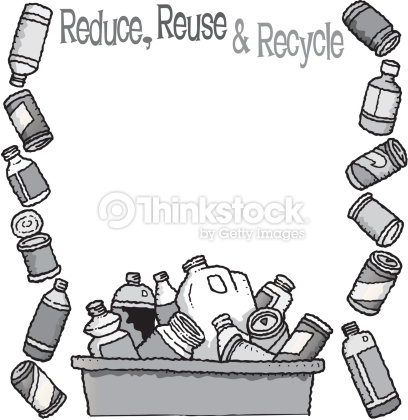 Recycling borders clip art free stock Border Heading Reduce Reuse And Recycle Frame Formed By Bottles ... free stock