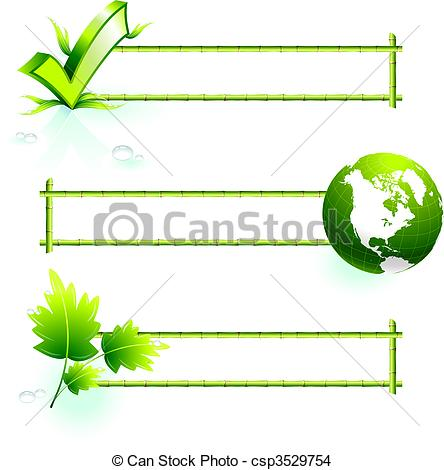 Recycling borders clip art png black and white library EPS Vector of bamboo border elements - Original Vector ... png black and white library
