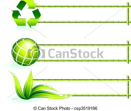 Recycling borders clip art freeuse Clip Art Vector of bamboo border elements csp3519166 - Search ... freeuse