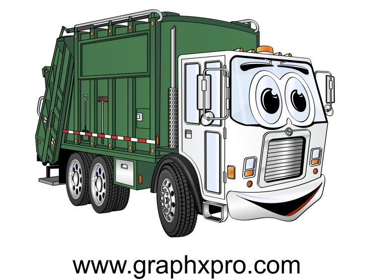 Recycling truck clipart clip art black and white stock Green White Garbage Truck Cartoon | Garbage Truck Cartoons ... clip art black and white stock