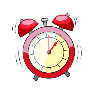 Red alarm clock clipart image black and white stock Alarm PNG - DLPNG.com image black and white stock