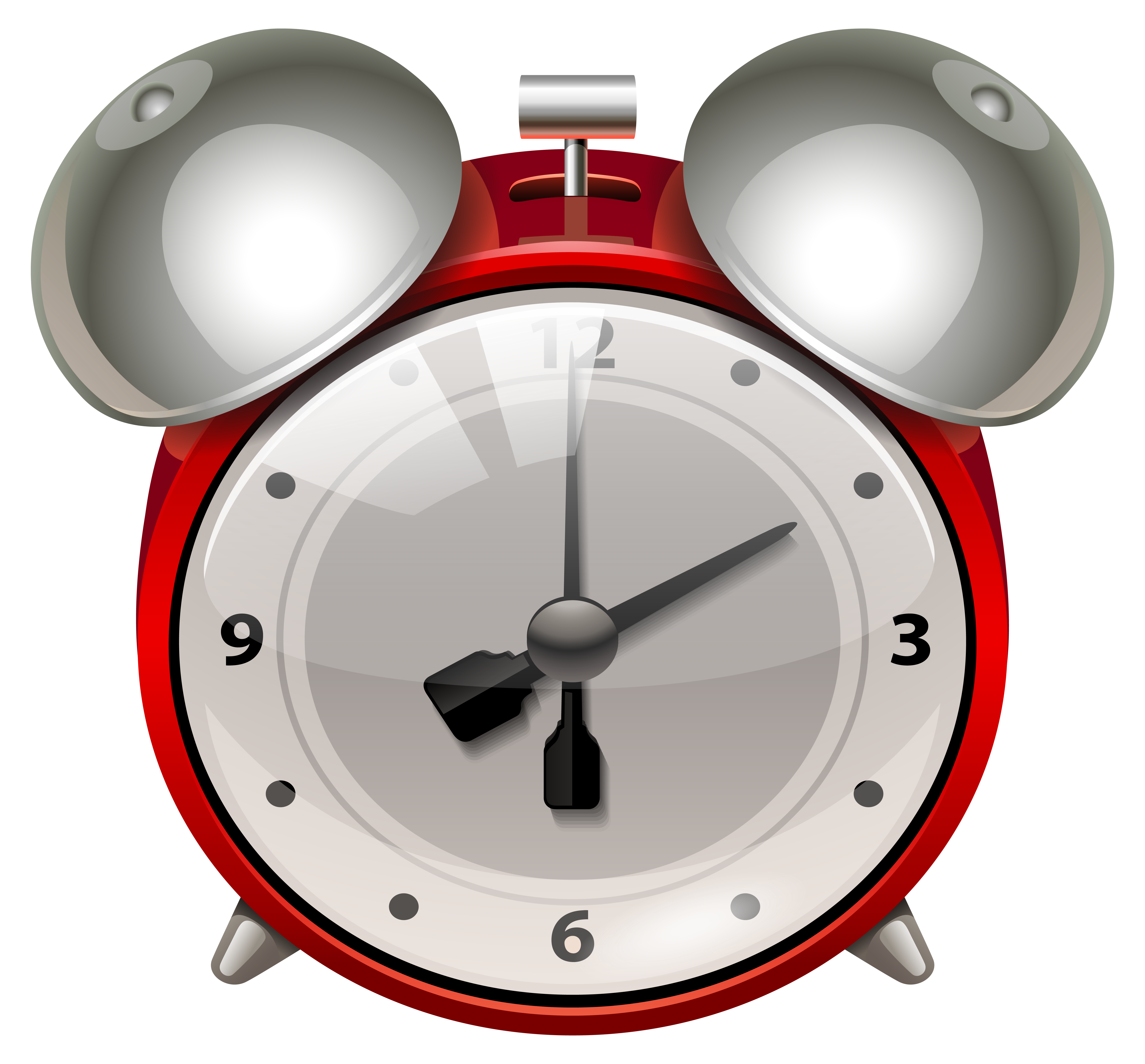 Red alarm clock clipart picture library Red Alarm Clock PNG Clip Art - Best WEB Clipart picture library