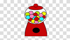 Candy machine, red and white gumball dispenser transparent ... clip art black and white download