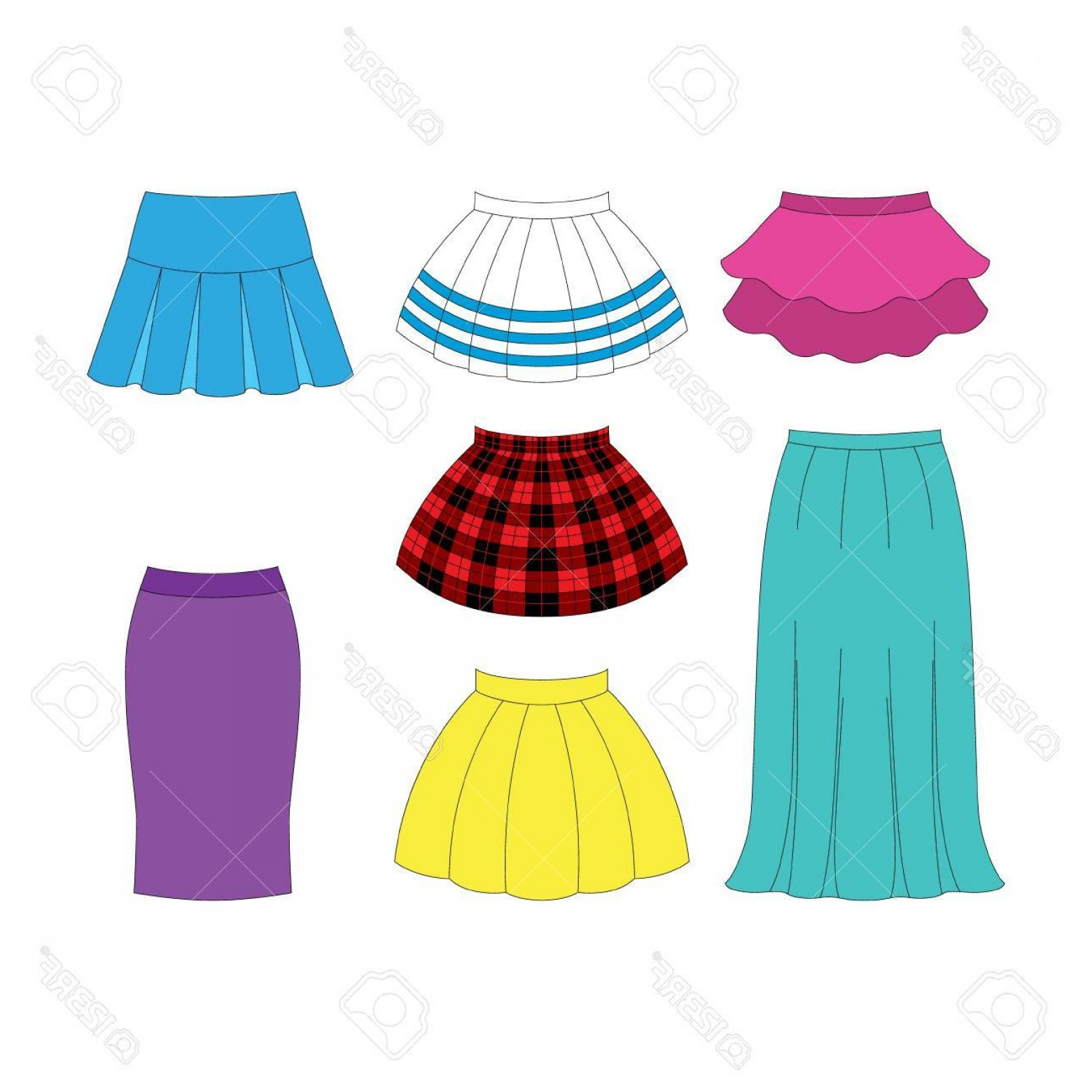 Red and black plaid skirt stock clipart jpg royalty free library Skirt Clip Art Vector | SOIDERGI jpg royalty free library