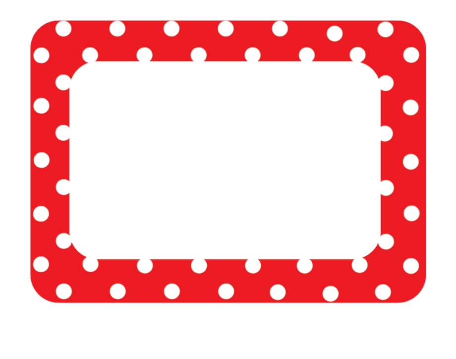 Рay Attention To Labels Borders Clipart - Red Polka Dot ... clipart download