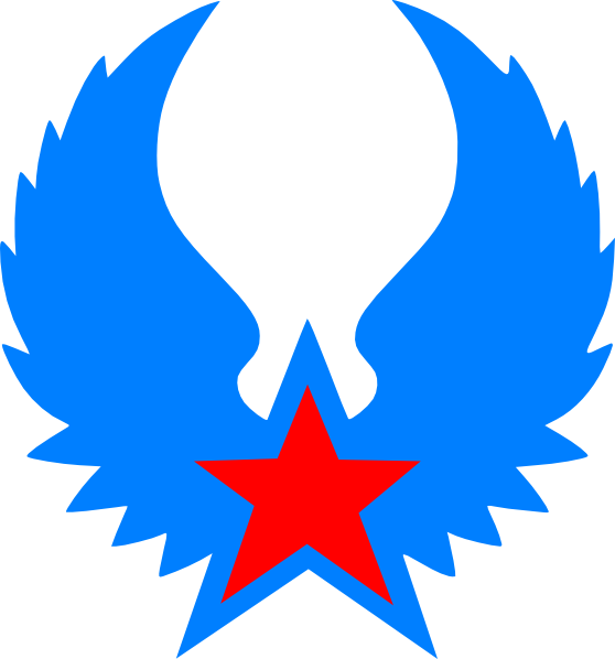 Red and blue star clipart picture royalty free download Red Star Blue Wings Clip Art at Clker.com - vector clip art online ... picture royalty free download