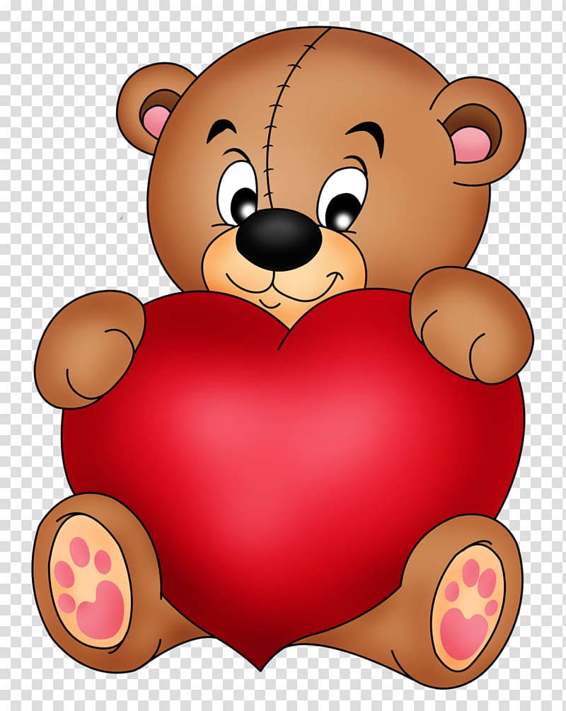 Red and brown heart clipart banner stock Teddy bear Heart , Brown Teddy with Red Heart , brown and ... banner stock