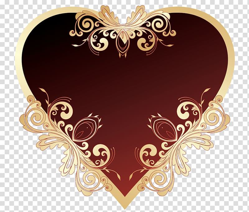 Red and brown heart clipart picture freeuse Brown and red floral heart artwork, Heart Red , Dark Red ... picture freeuse