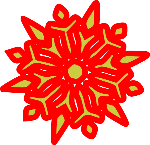 Snowflake clipart green clipart transparent stock Snowflake Red N Green Clip Art at Clker.com - vector clip art online ... clipart transparent stock
