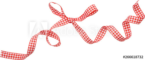 red check ribbon curl isolated on white background. Red ... vector transparent stock