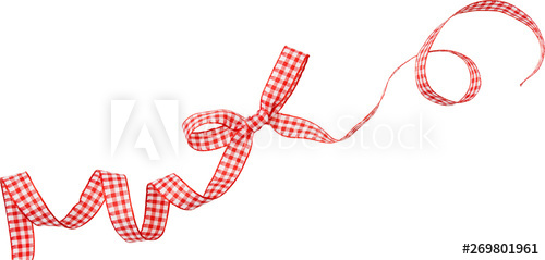 red check ribbon curl isolated on white background. Red ... svg stock